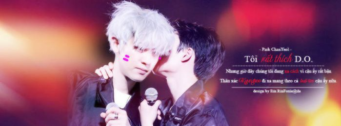 [Quotes|Cover FB] ChanSoo ver.2 :3 by RinFoxie