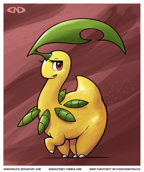 Bayleef - Paint Practice by DoNotDelete
