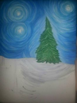 WIP holiday painting by smunk1