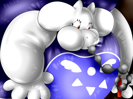 Giant Toriel Inflation by BalloonKitten