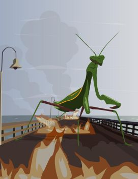Praying Mantis Vector by BadgerLord87