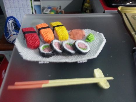 3D origami sushi by lantern77