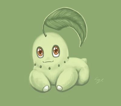 Daily Drawing #51 - Chikorita by Mr-Sage