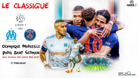Marseille vs Paris Saint-Germain by jafarjeef