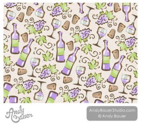Wine Surface Pattern by Andy Bauer by Art-by-Andy
