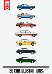Car Illustrations (V3) by Axle9