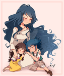Mom's day Aigami and Sera by MadelineCG