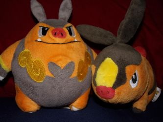 Pignite and Tepig by Luiskoa64