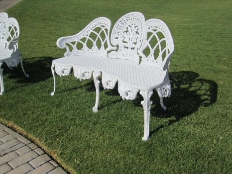White Bench Stock 1 by chamberstock