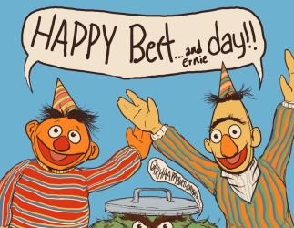 Happy Bert...and ernie Day by jlcomix