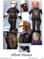 Albert Wesker Plushie by SoandSewPlushies