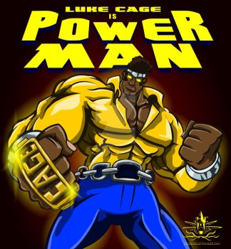 LUKE CAGE IS POWER MAN by chriscrazyhouse