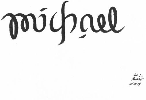 Michael Ambigram by fulldemonnaruto