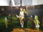 untitled 2 WIP Oil on canvas by michaelandrewlaw