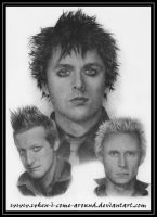 Green Day Pencil Portrait by When-I-Come-Around