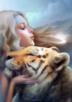 Angel of Tigers by nell-fallcard
