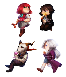 [F] My Ancient Stickers by Anorha-Nono