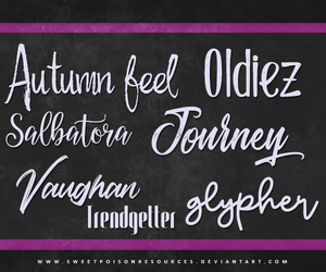 Font Pack 003 by sweetpoisonresources