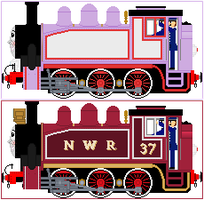 Rosie The Lavender Engine by Princess-Muffins