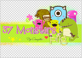 37 Monsters PNG by AmuziiTha