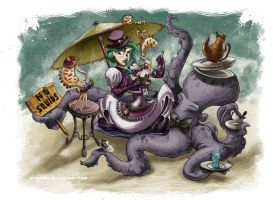 No squids at tea time by GenerArtist