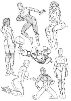 Sketchbook Anatomy 3 by Bambs79
