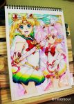 Super Sailor moon and chibimoon by Hikarisoul2