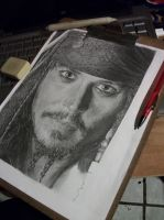 WIP Johnny Depp- Jack Sparrow by LaPicher