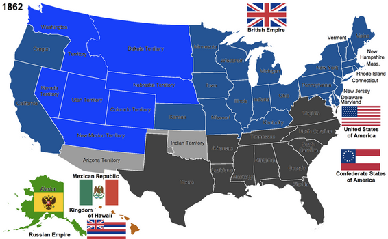 The United States, 1862 by Hillfighter