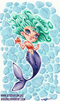 Mermaid and her pet by shidonii