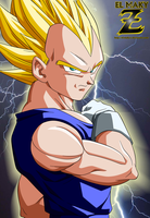 DBZ: Vegeta Super Saiyan by el-maky-z
