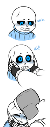 Blizzard Gaster Comforting Young Sans by APEX-Knight