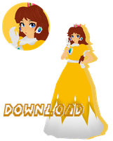 MMD Mario Series - Tda Classic Daisy DL by FrenchFriesTsun