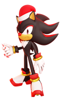 shadow the red nose hedgehog by DillanMurillo