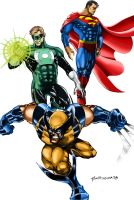 Superheroes Crossover by Tronar