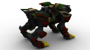 Liger Zero Military back by 3DRaptor