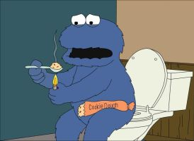 Family Guy Cookie Monster by rbc88