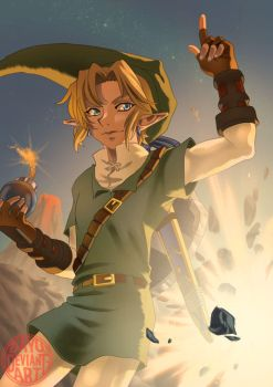 Zelda: Link - Bomb Your Way by Dayu