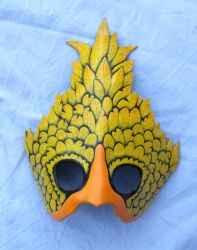 Chocobo leather mask by ShadowFoxLeatherwork