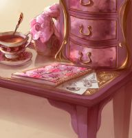 <b>Peonies And Tea</b><br><i>My-Magic-Dream</i>