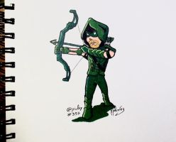 DailySketch 357 Oliver Queen from Arrow by zeravlam