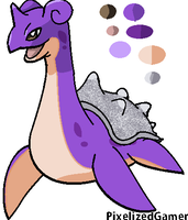 Shiny Lapras [MS Paint] by pixelizedgamer