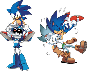 Sonic's dad and uncle by Drawloverlala