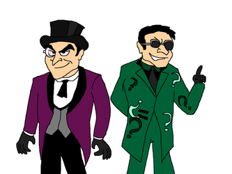 Gotham's Penguin and Riddler by Scurvypiratehog