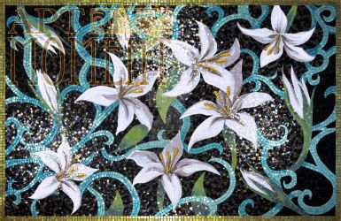 'Lily' in glass mosaic by Artmoment-Rus