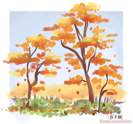 Simple Autumn Painting by KodaConstellation
