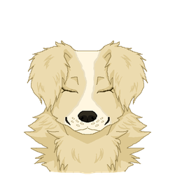 Smiley doggo by StaticPigeons