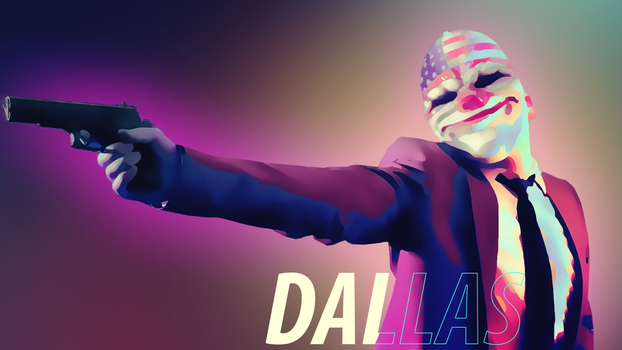 Payday 2 Dallas Wallpaper (1920 x 1080) by Solar11pro