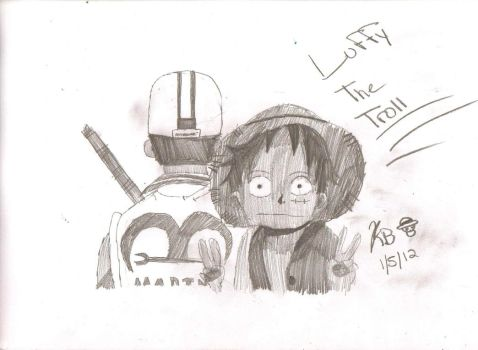Luffy The Troll by pikachupokemon123