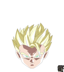 Super Saiyan 2 Aura Gohan by hollowkingking